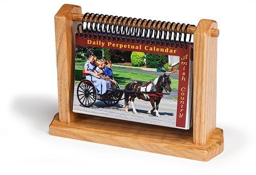 Calendar Wooden Holder : Perpetual calendar